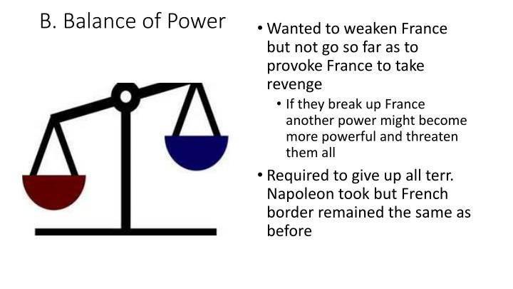 B. Balance of Power