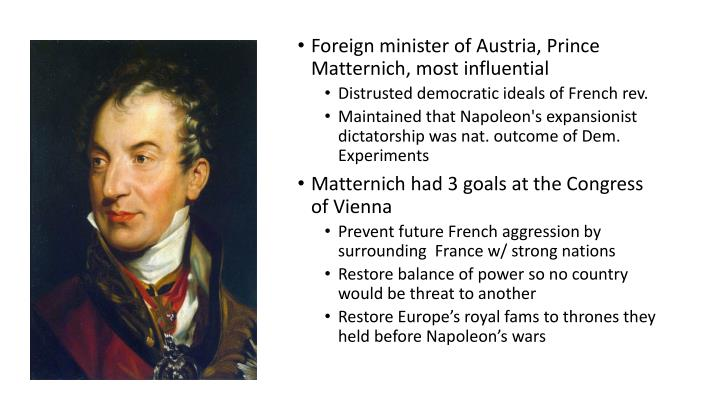Foreign minister of Austria, Prince