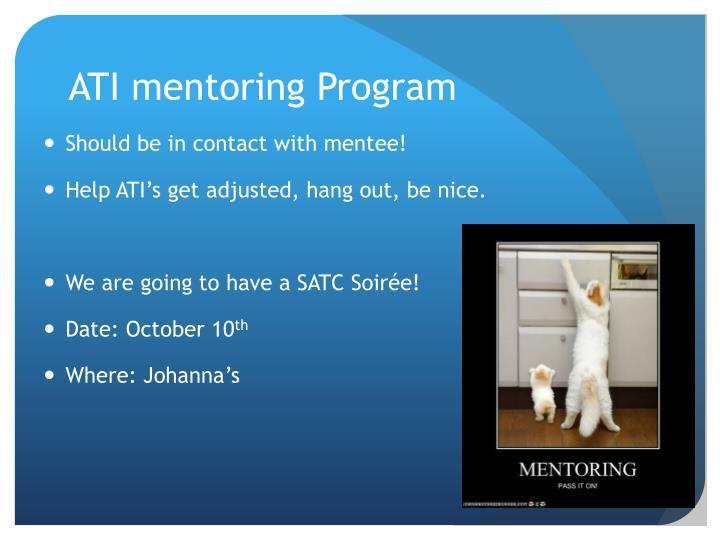ATI mentoring Program