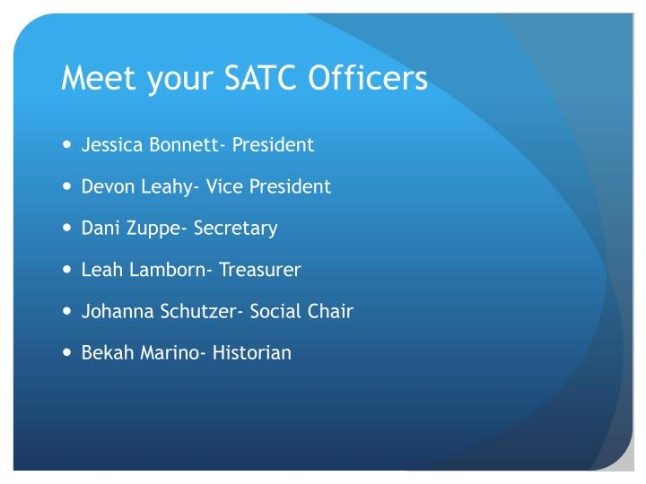 Meet your SATC Officers