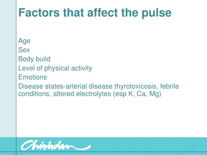 Factors that affect the pulse