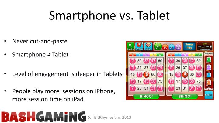 Smartphone vs. Tablet