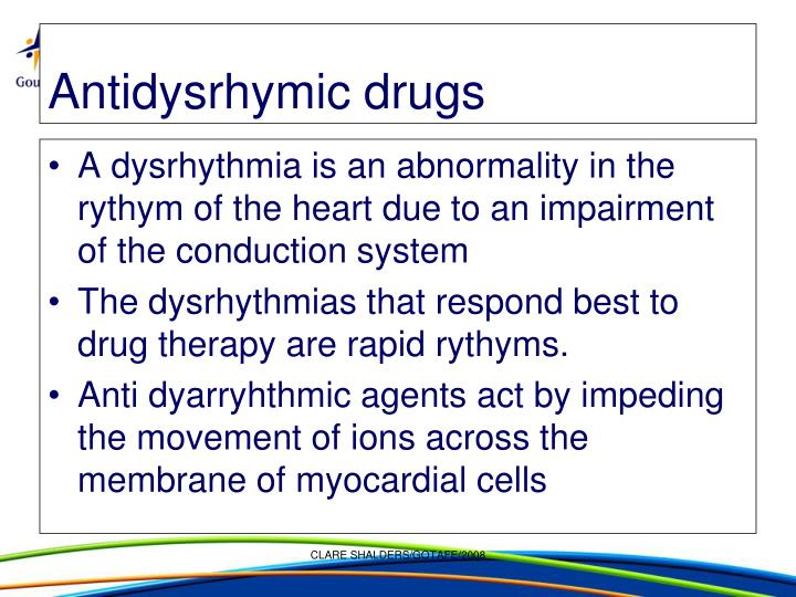 Antidysrhymic drugs