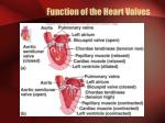 function of the heart valves