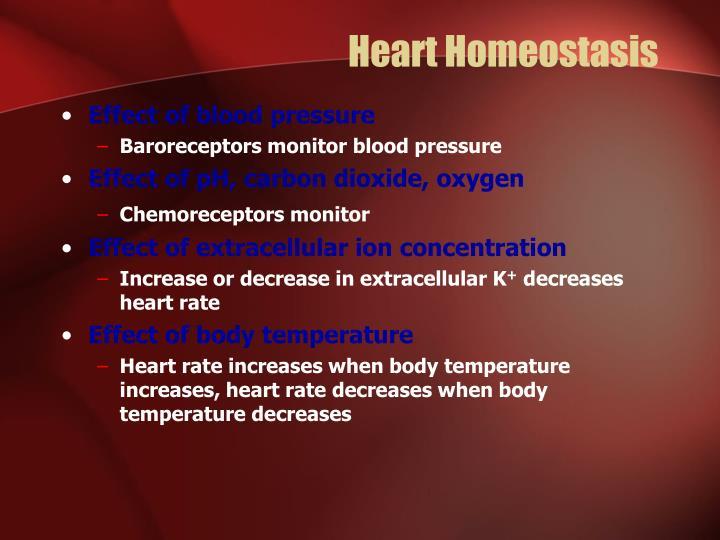Heart Homeostasis