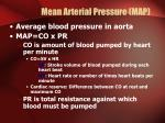 mean arterial pressure map