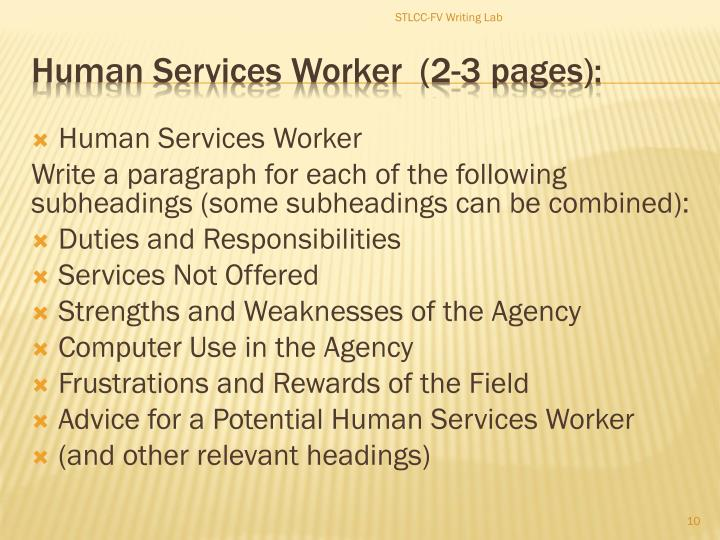 Human Services Worker