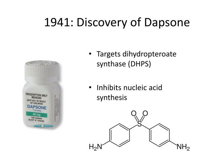 1941: Discovery of Dapsone