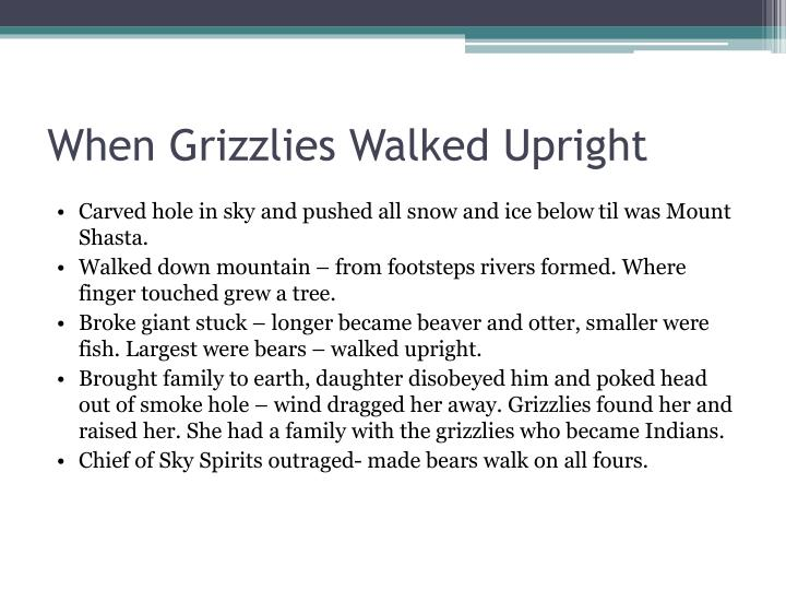 When Grizzlies Walked Upright