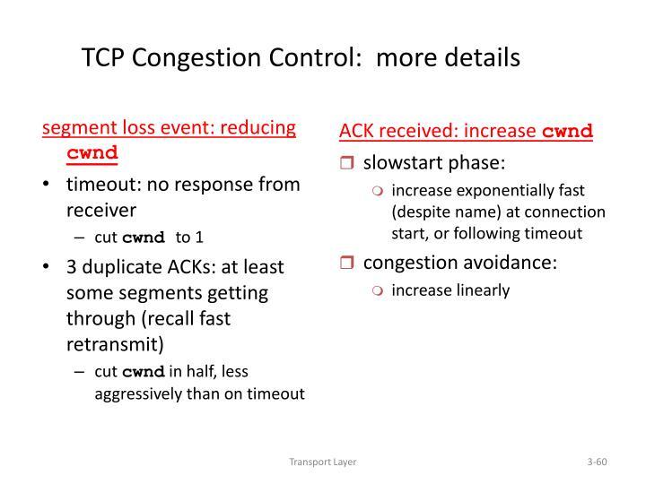 segment loss event: reducing