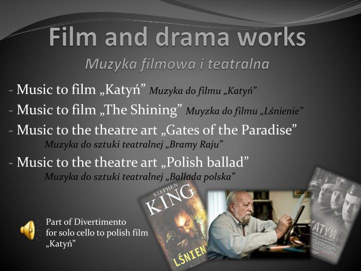 Muzyka filmowa i teatralna