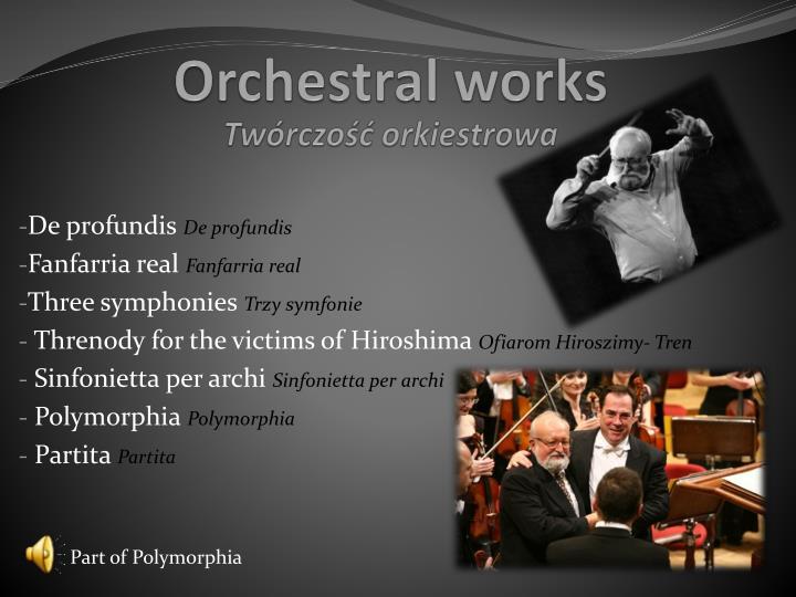 Twórczość orkiestrowa