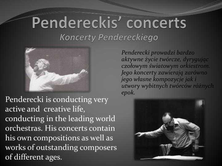 Koncerty Pendereckiego