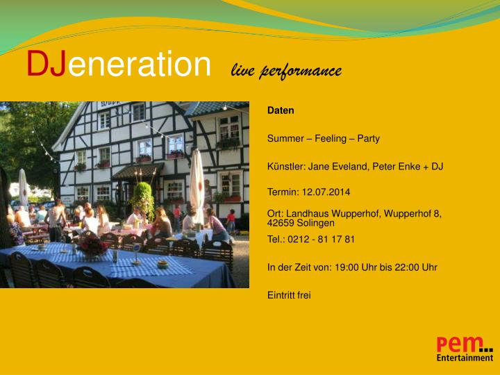 Dj eneration live performance