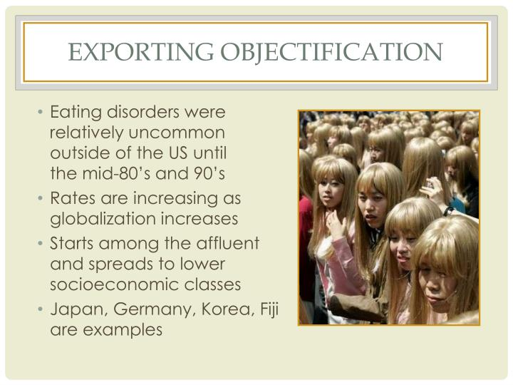 Exporting objectification
