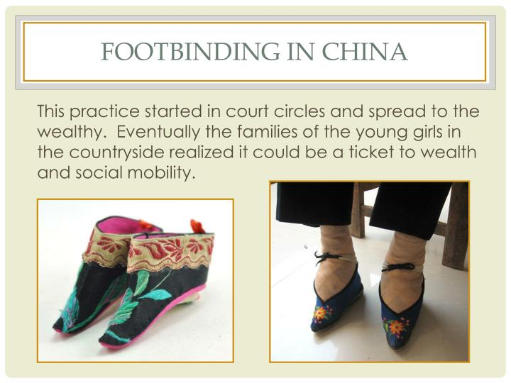 Footbinding in china