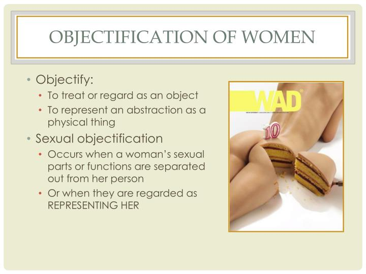 Objectification of women