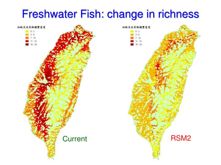 Freshwater Fish: change in richness