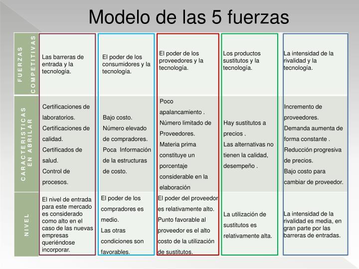 Modelo de las 5 fuerzas