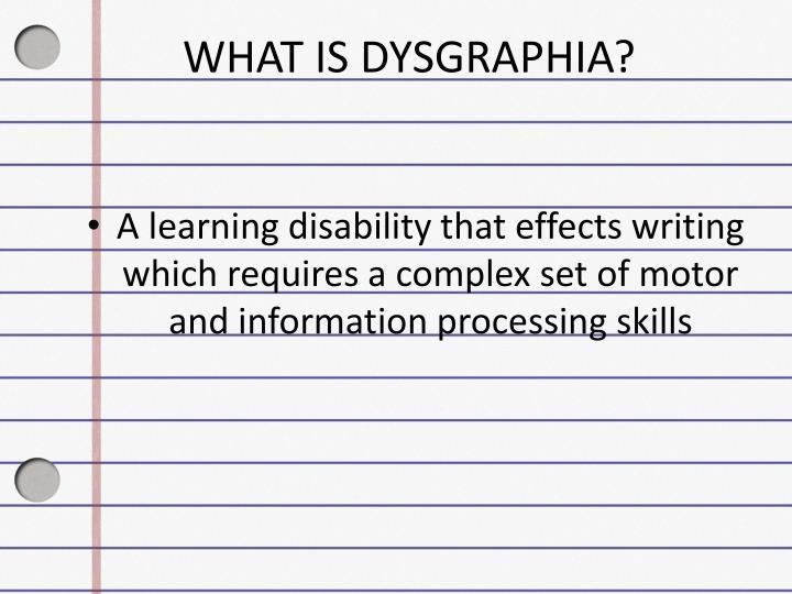 Ppt Dysgraphia Powerpoint Presentation Id 2136597