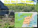 ch 4 sec 2 the middle colonies farms cities