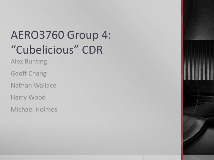 Aero3760 group 4 cubelicious cdr