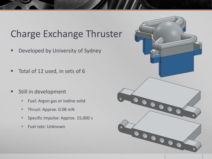 Charge Exchange Thruster