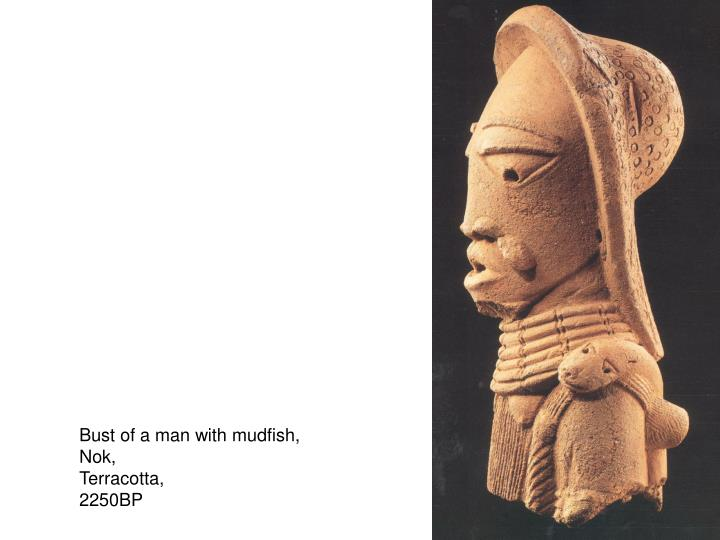 Bust of a man with mudfish,