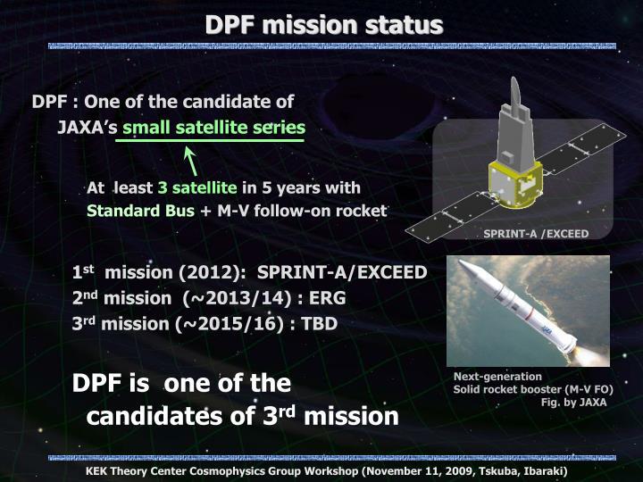 DPF mission status