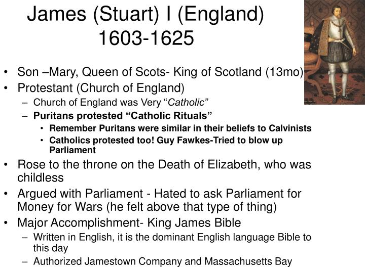 James stuart i england 1603 1625