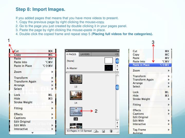 Step 8: Import Images.