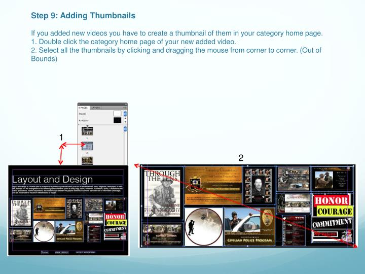 Step 9: Adding Thumbnails
