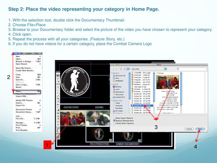 Step 2: Place the video representing your category in Home Page.