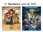 11 toy story 3 june 18 2010