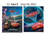 12 cars 2 june 24 2011