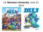 14 monsters university june 21 2013
