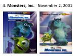 4 monsters inc november 2 2001