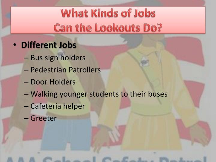 What Kinds of Jobs