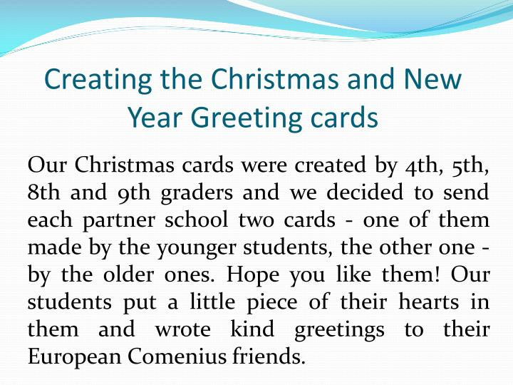Creating the Christmas and New Year Greeting cards
