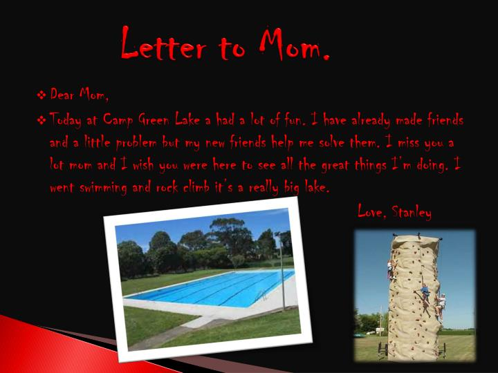 Letter to Mom.