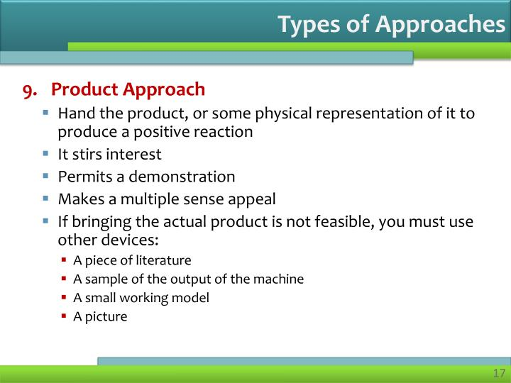 Types of Approaches