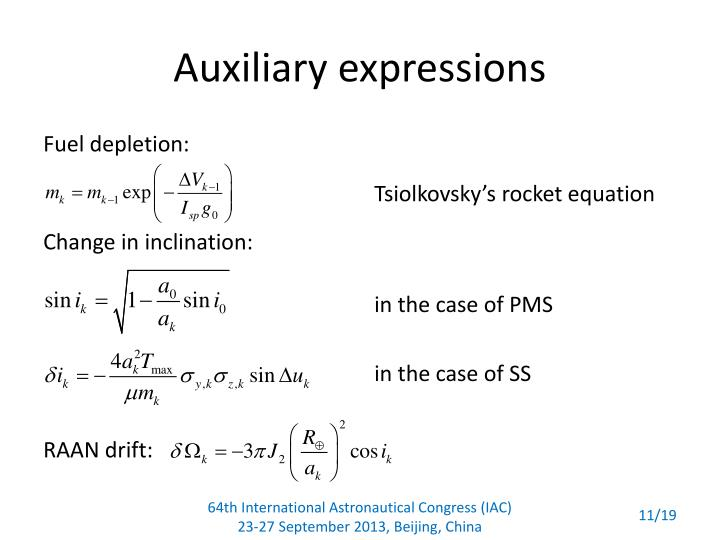 Auxiliary expressions