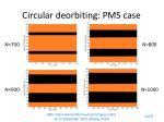 circular deorbiting pms case