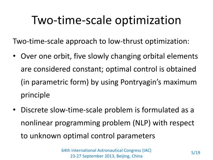 Two-time-scale optimization