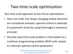 two time scale optimization