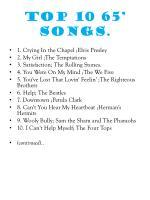 top 10 65 songs