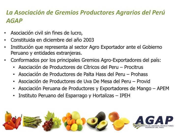 La Asociación de Gremios Productores Agrarios del Perú