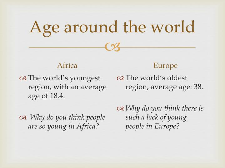 Age around the world