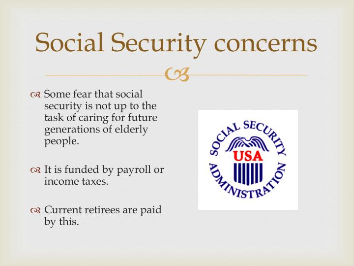 Social Security concerns