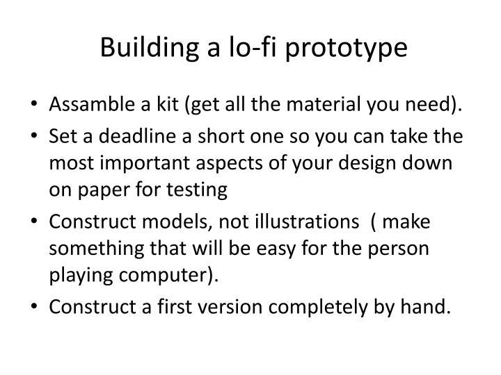 Building a lo-